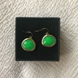 Francesca's Green and Gold Drop earrings